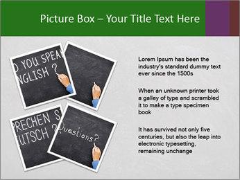 Empty blank black chalkboard PowerPoint Template - Slide 23