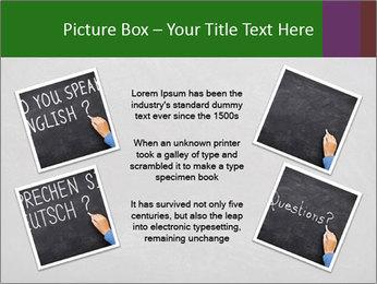 Empty blank black chalkboard PowerPoint Templates - Slide 24