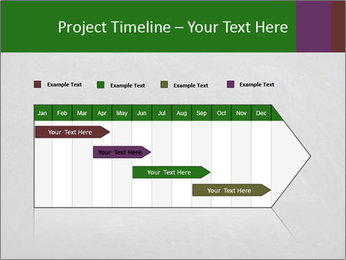 Empty blank black chalkboard PowerPoint Template - Slide 25
