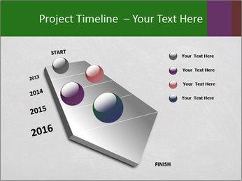 Empty blank black chalkboard PowerPoint Template - Slide 26