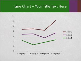 Empty blank black chalkboard PowerPoint Template - Slide 54