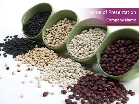 Assorted mixed dried beans spilling PowerPoint Template