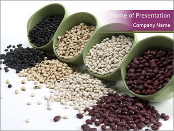 Assorted mixed dried beans spilling PowerPoint Template - Slide 1