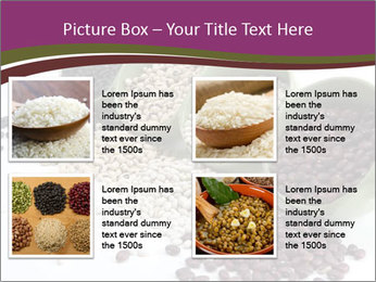 Assorted mixed dried beans spilling PowerPoint Template - Slide 14