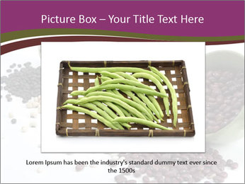 Assorted mixed dried beans spilling PowerPoint Template - Slide 15
