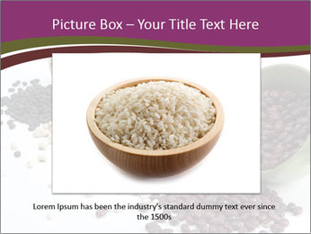 Assorted mixed dried beans spilling PowerPoint Template - Slide 16