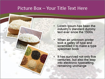 Assorted mixed dried beans spilling PowerPoint Template - Slide 17