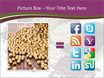Assorted mixed dried beans spilling PowerPoint Template - Slide 21