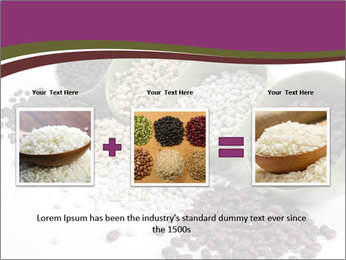 Assorted mixed dried beans spilling PowerPoint Template - Slide 22