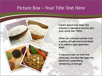 Assorted mixed dried beans spilling PowerPoint Template - Slide 23