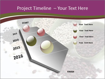 Assorted mixed dried beans spilling PowerPoint Template - Slide 26