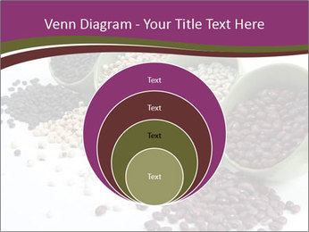 Assorted mixed dried beans spilling PowerPoint Template - Slide 34