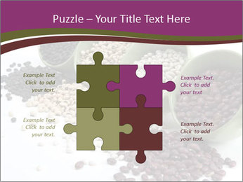 Assorted mixed dried beans spilling PowerPoint Template - Slide 43