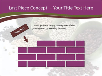 Assorted mixed dried beans spilling PowerPoint Template - Slide 46