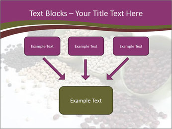 Assorted mixed dried beans spilling PowerPoint Template - Slide 70