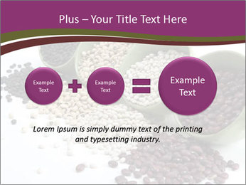Assorted mixed dried beans spilling PowerPoint Template - Slide 75