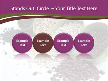 Assorted mixed dried beans spilling PowerPoint Template - Slide 76