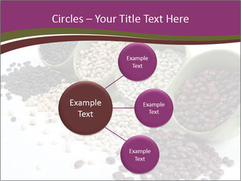 Assorted mixed dried beans spilling PowerPoint Template - Slide 79