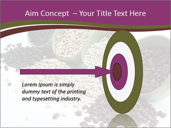 Assorted mixed dried beans spilling PowerPoint Template - Slide 83