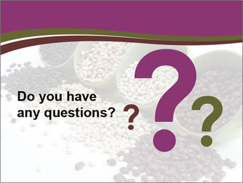 Assorted mixed dried beans spilling PowerPoint Templates - Slide 96