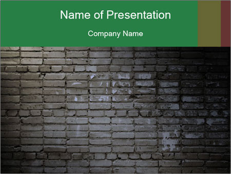 Old brick wall PowerPoint Template