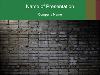 Old brick wall PowerPoint Template - Slide 1