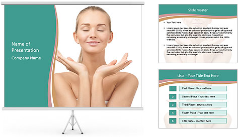 Beautiful young spa woman PowerPoint Template