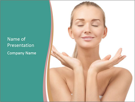 Beautiful young spa woman PowerPoint Templates