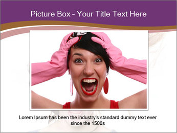 Portrait of the indignant young woman PowerPoint Templates - Slide 15