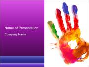 Colored hand PowerPoint Template