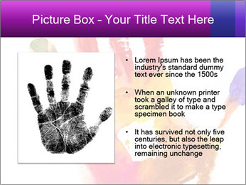 Colored hand PowerPoint Template - Slide 13