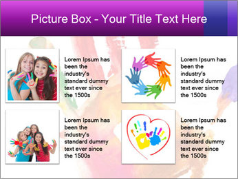 Colored hand PowerPoint Template - Slide 14