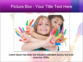 Colored hand PowerPoint Template - Slide 15