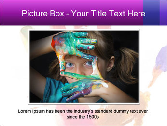Colored hand PowerPoint Template - Slide 16