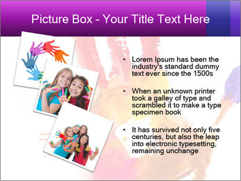 Colored hand PowerPoint Template - Slide 17