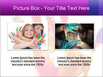Colored hand PowerPoint Template - Slide 18