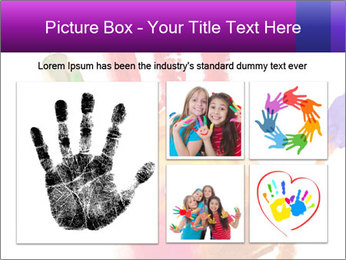 Colored hand PowerPoint Template - Slide 19