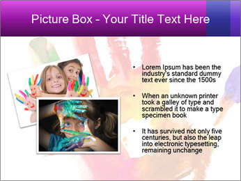 Colored hand PowerPoint Template - Slide 20