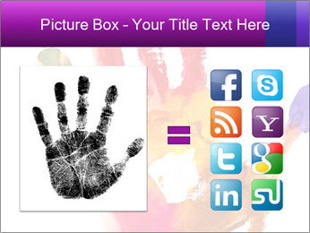 Colored hand PowerPoint Template - Slide 21