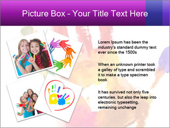 Colored hand PowerPoint Template - Slide 23