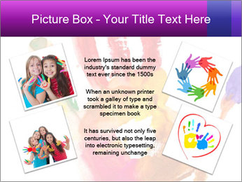 Colored hand PowerPoint Template - Slide 24