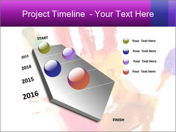 Colored hand PowerPoint Template - Slide 26