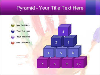 Colored hand PowerPoint Template - Slide 31
