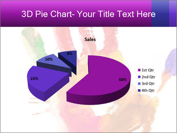 Colored hand PowerPoint Template - Slide 35
