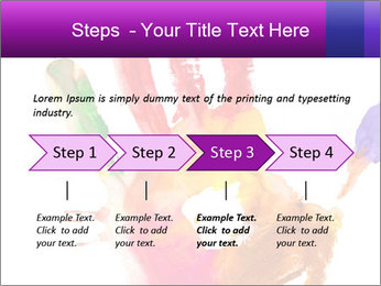 Colored hand PowerPoint Template - Slide 4