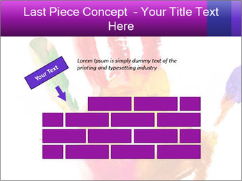 Colored hand PowerPoint Template - Slide 46