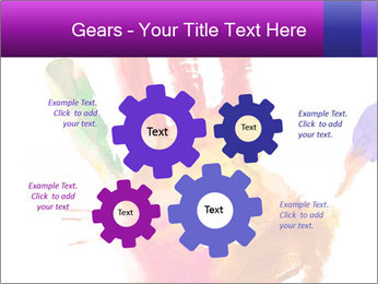 Colored hand PowerPoint Template - Slide 47