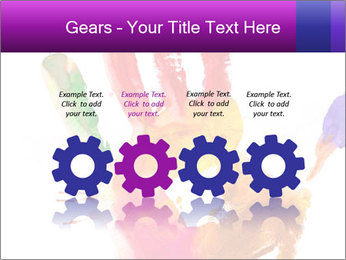 Colored hand PowerPoint Template - Slide 48