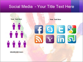 Colored hand PowerPoint Template - Slide 5