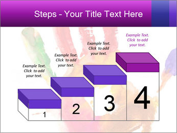 Colored hand PowerPoint Template - Slide 64